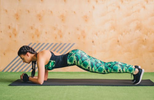 healthy young women doing planking exercise gym 8353 6010
