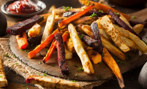 oven roasted veggie fries recipe