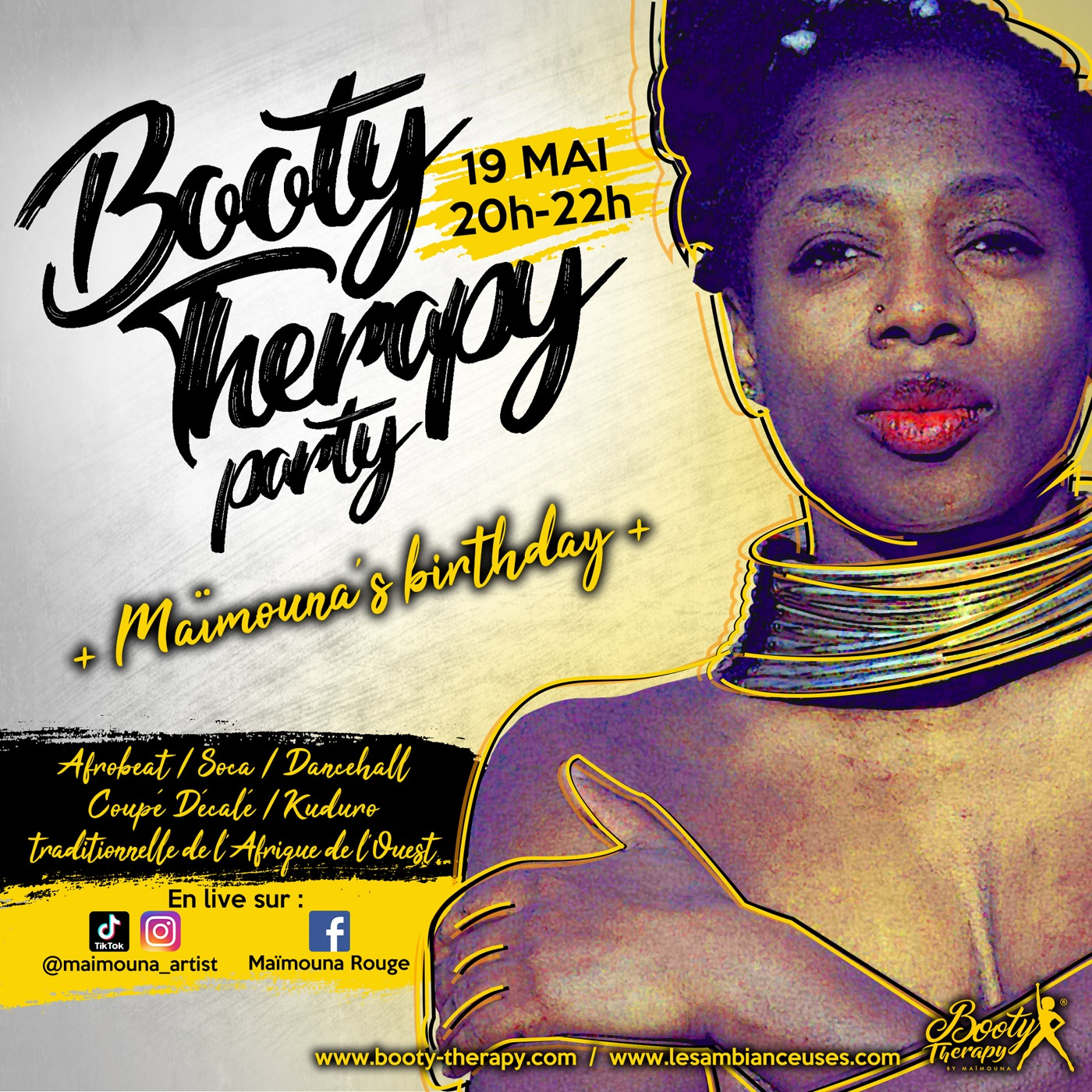 Booty Therapy Party 19 mai 2020 visuel carré